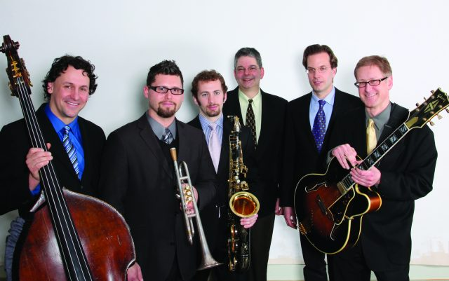 "Wisconsin Conservatory of Music ""We Six"" (Jeff Hamann, Eric Jacobson, Eric Schoor, David Bayles, Mark Davis, Paul Silbergleit)."